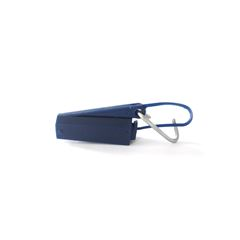 Esticador plástico p/ cabo drop com gancho (azul)