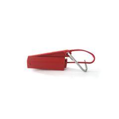 Esticador plástico p/ cabo drop com gancho (vermelho)