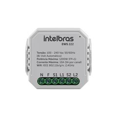 Mini controlador smart Wi-Fi com entrada para 2 interruptores EWS 222 - IZY