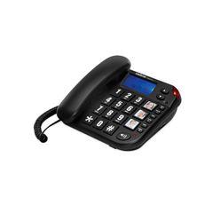 Telefone com fio teclas grandes Tok Fácil com identificador de chamadas