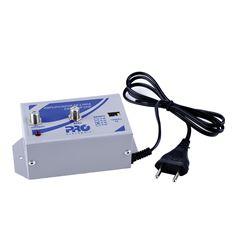 Amplificador de linha para antena VHF e UHF 30dB (PQAL-3000G2)