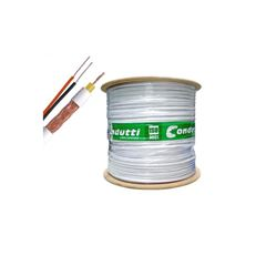 Cabo coaxial RF 4MM + 2 fios X 26AWG (500M)