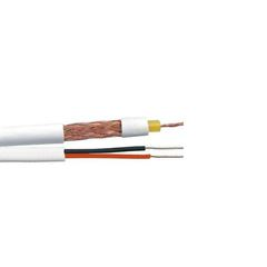 Cabo coaxial RF 4 mm + 2 fios X 26AWG (100m)