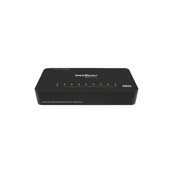 Switch 8 portas Fast Ethernet com VLAN Fixa SF800VLAN
